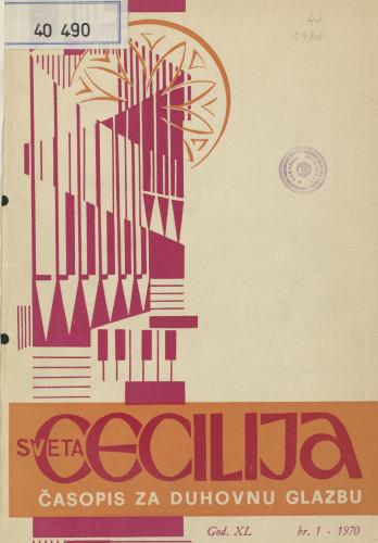 Sveta Cecilija, Godina 40, broj 1,(1970.)