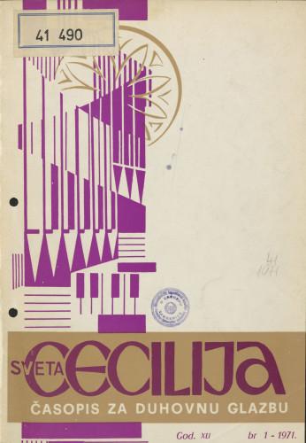 Sveta Cecilija, Godina 41, broj 1,(1971)