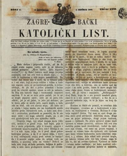 Zagrebački katolički list, Tečaj 17, broj 1, (1866.)
