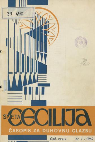 Sveta Cecilija, Godina 39, broj 1,(1969.)
