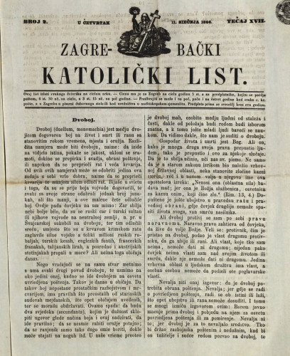 Zagrebački katolički list, Tečaj 17, broj 2, (1866.)