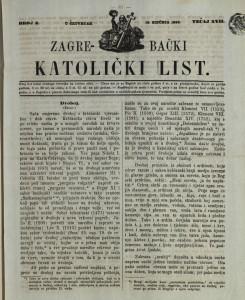 Zagrebački katolički list, Tečaj 17, broj 3, (1866.)